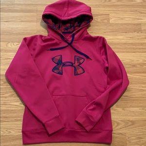 Women's under amour storm S hoodie purple blue EUC